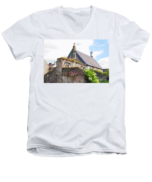 Men's V-Neck T-Shirt featuring the photograph Kilkenny House by Mary Carol Story