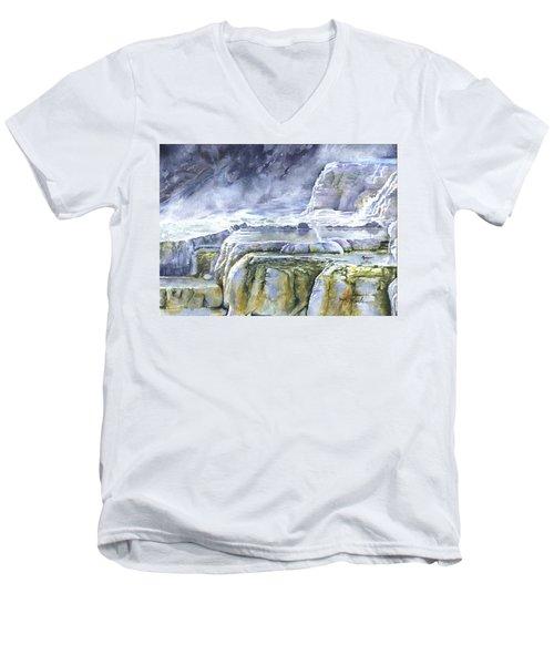 Killdeer Palisades - Mammoth Hot Springs Men's V-Neck T-Shirt