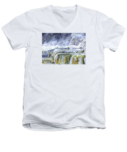 Killdeer Palisades - Mammoth Hot Springs Men's V-Neck T-Shirt