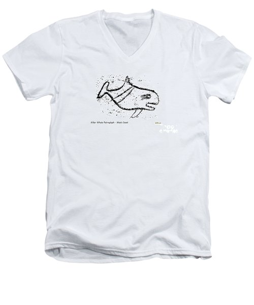 Killer Whale Petroglyph Men's V-Neck T-Shirt