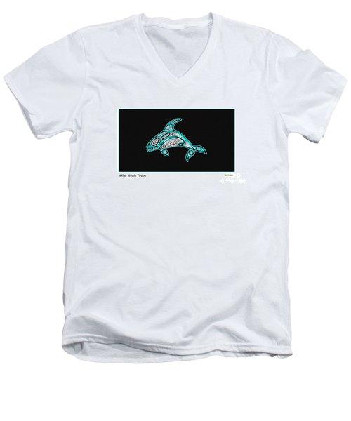 Killer Whale Totem Men's V-Neck T-Shirt