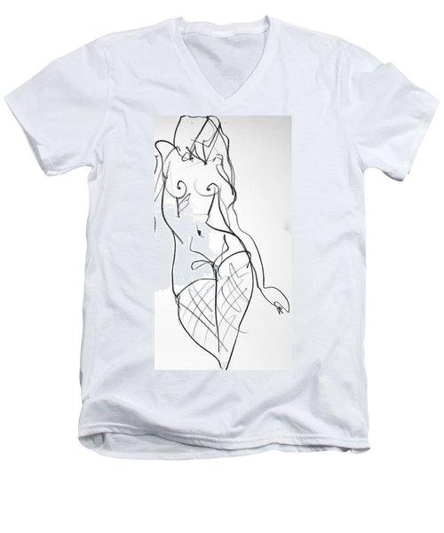 Kilroy Heart Men's V-Neck T-Shirt