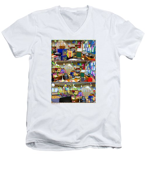 Kindergarten Classroom Men's V-Neck T-Shirt by Tina M Wenger