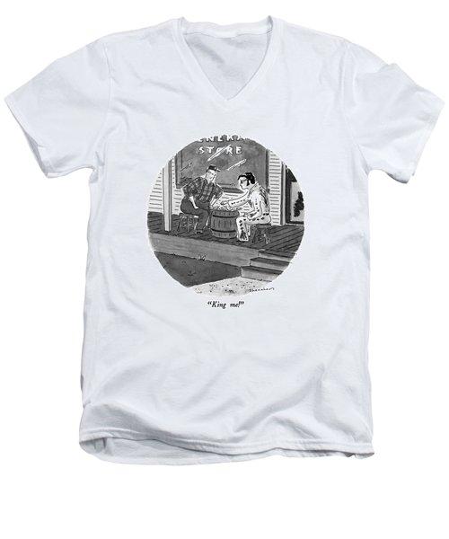 King Me! Men's V-Neck T-Shirt