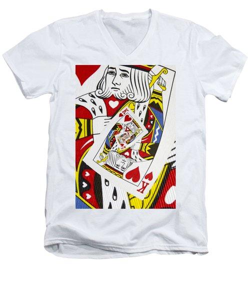 King Of Hearts Collage Men's V-Neck T-Shirt
