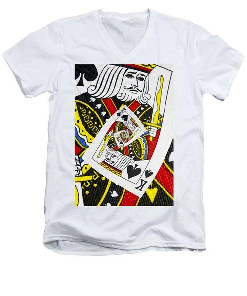King Of Spades Collage Men's V-Neck T-Shirt