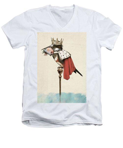 Kingfisher Men's V-Neck T-Shirt by Eric Fan