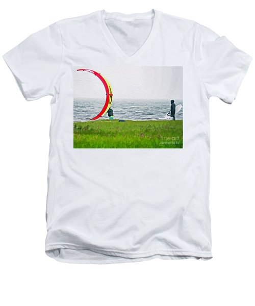Kite Boarder Men's V-Neck T-Shirt