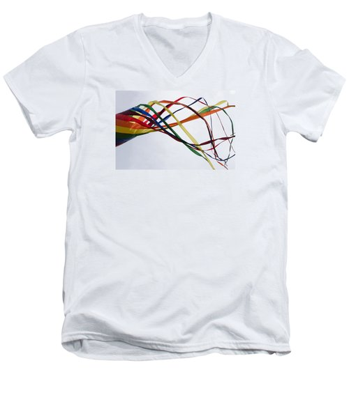 Men's V-Neck T-Shirt featuring the photograph Kite  by Susan  McMenamin