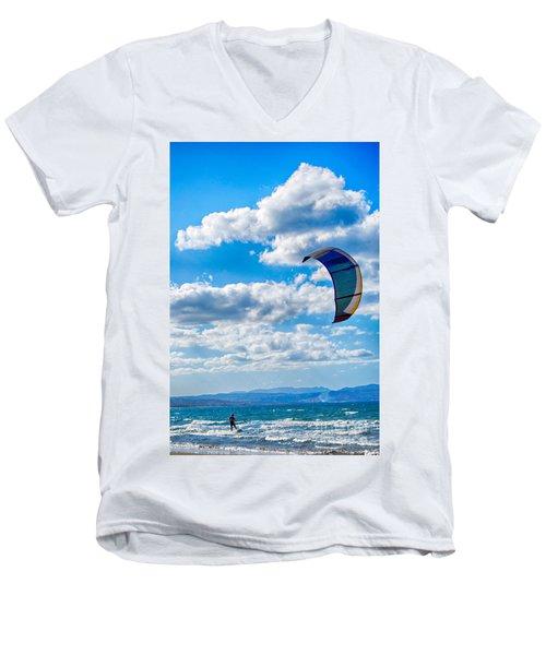Kitesurfer Men's V-Neck T-Shirt