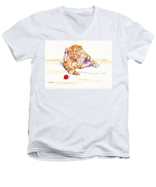 Kitten Interrupted Men's V-Neck T-Shirt