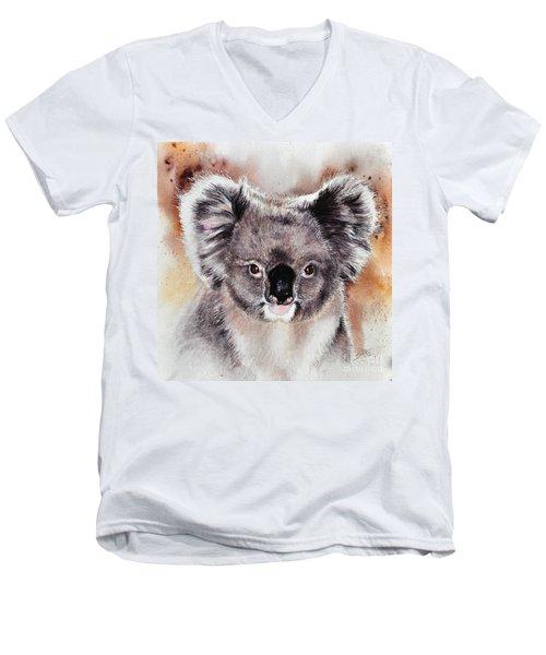 Koala  Men's V-Neck T-Shirt by Sandra Phryce-Jones