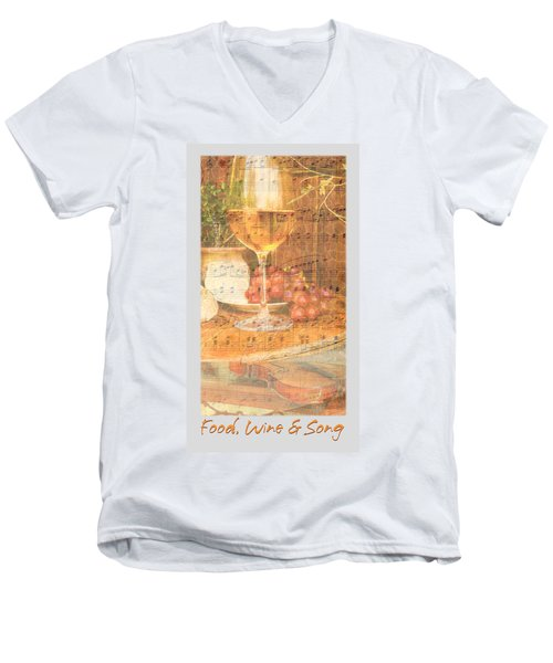 Food Wine And Song Men's V-Neck T-Shirt