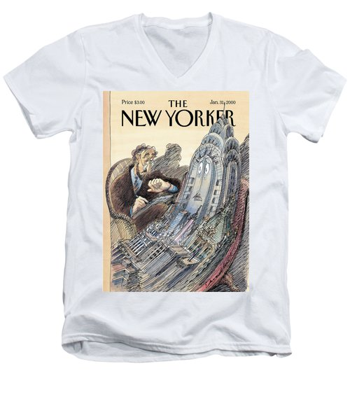 Kvetch City Men's V-Neck T-Shirt
