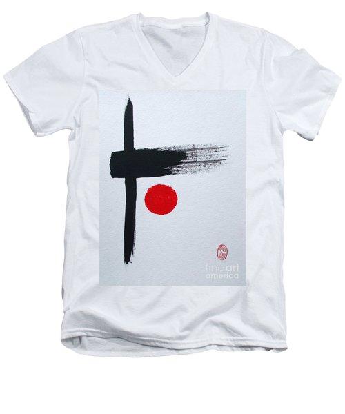Kyosaku Men's V-Neck T-Shirt by Roberto Prusso