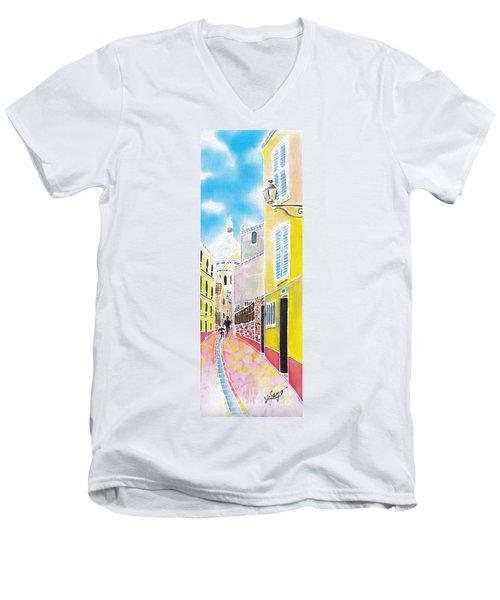 La Butte Montmartre Men's V-Neck T-Shirt