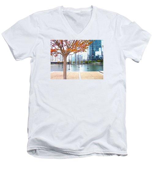 La Defense Men's V-Neck T-Shirt by Oleg Zavarzin