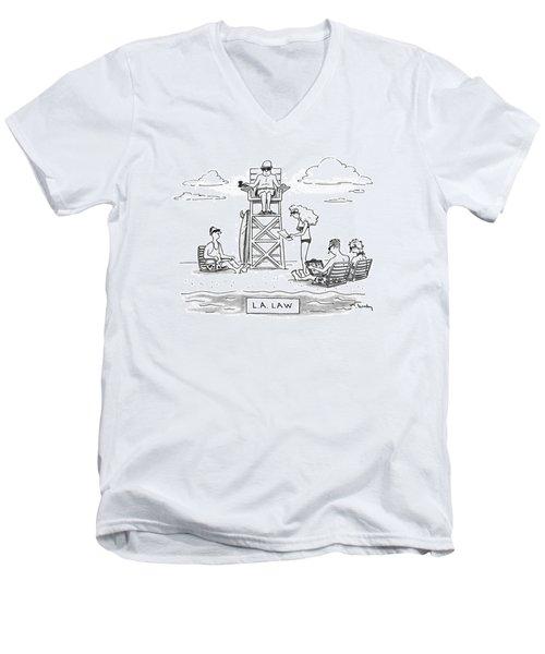 L.a. Law Men's V-Neck T-Shirt