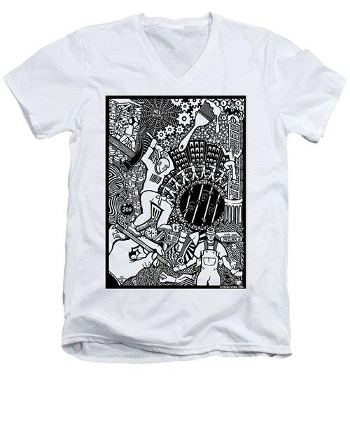 Labor Daze Men's V-Neck T-Shirt