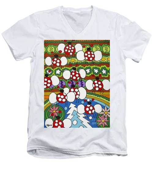 Lady Bugs Men's V-Neck T-Shirt
