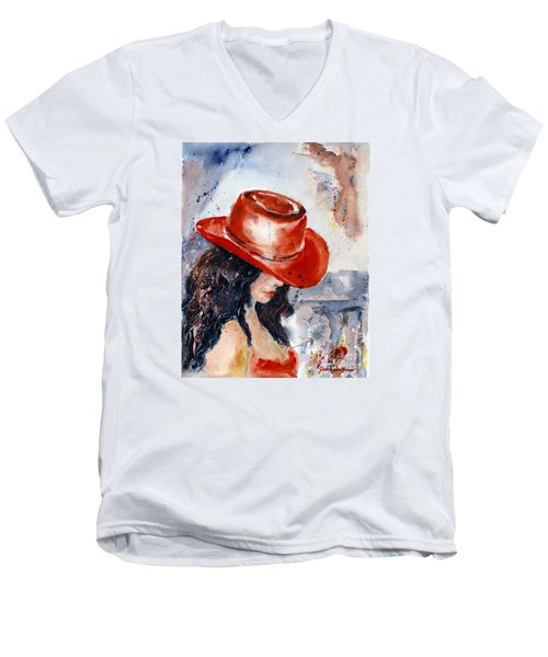 The Red Hat Men's V-Neck T-Shirt