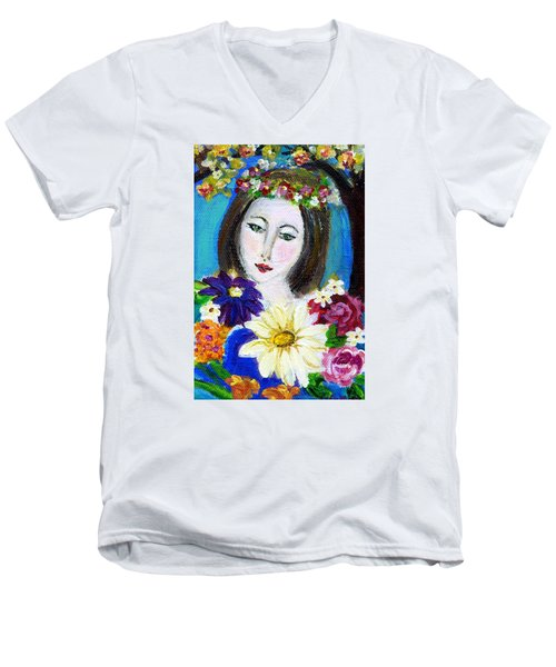 Lady Of Spring Men's V-Neck T-Shirt