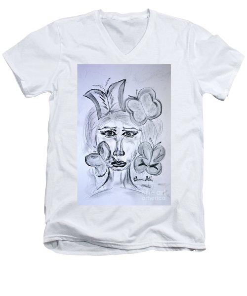 Lady Queen Of Butterflies Men's V-Neck T-Shirt