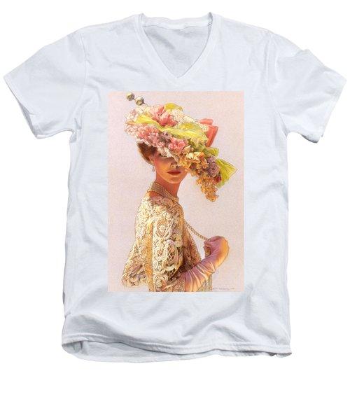 Lady Victoria Victorian Elegance Men's V-Neck T-Shirt