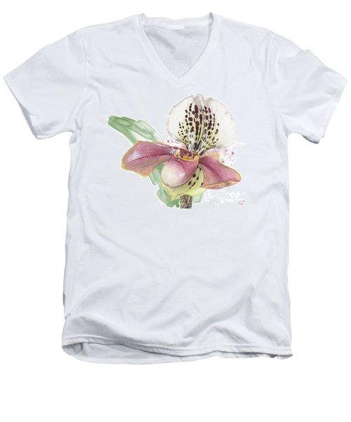 Ladys Slipper - Orchid 14 - Elena Yakubovich Men's V-Neck T-Shirt