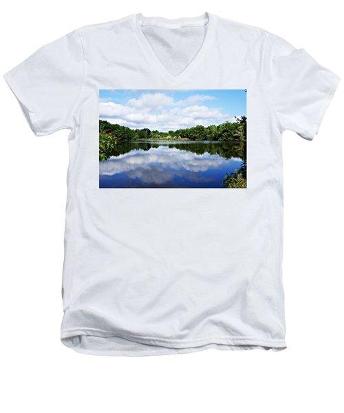 Lagoon IIi Men's V-Neck T-Shirt by Joe Faherty