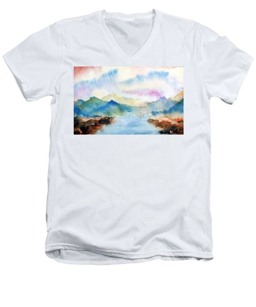 Lake Chuzenji Nikko Men's V-Neck T-Shirt
