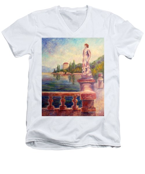 Lake Como View Men's V-Neck T-Shirt