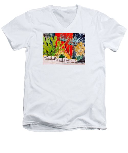 Lake Travis Cactus Garden Men's V-Neck T-Shirt