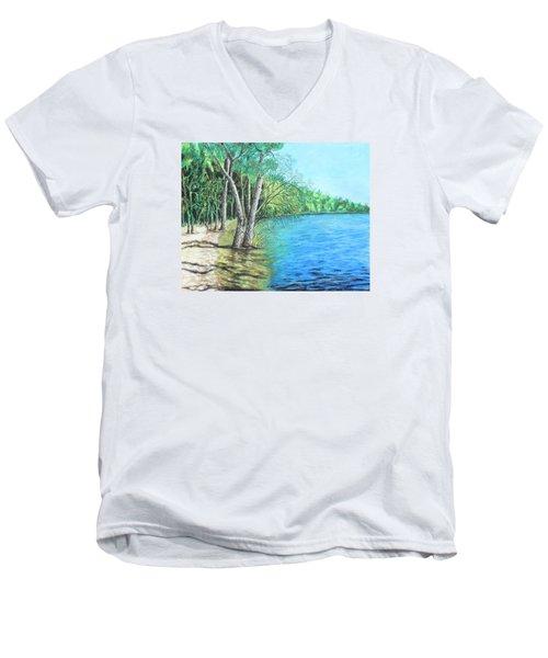 Lakeland 2 Men's V-Neck T-Shirt by Jeanne Fischer
