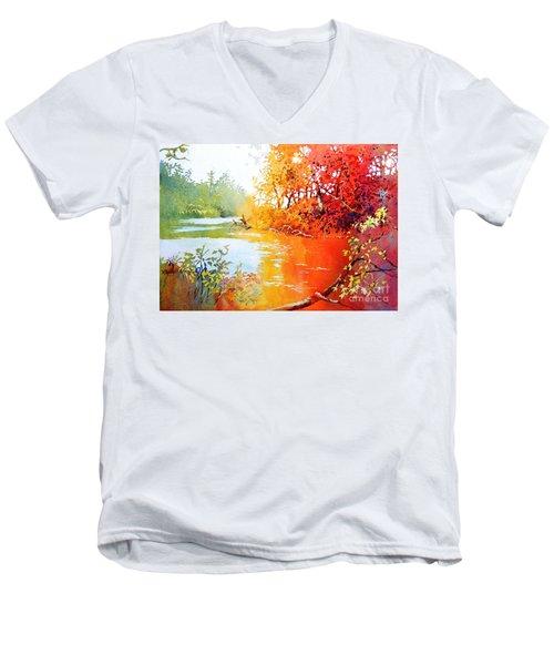 Lakescene 1 Men's V-Neck T-Shirt