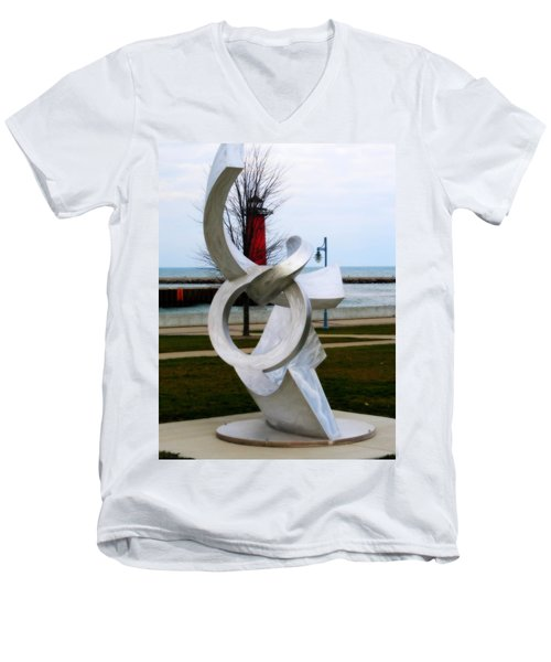Lakeside Art Men's V-Neck T-Shirt
