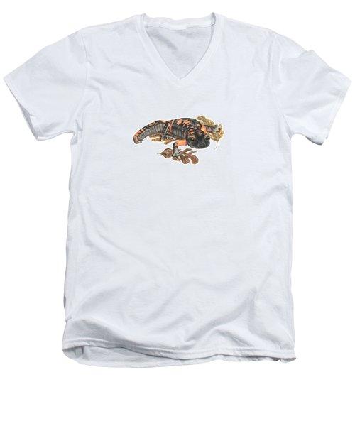 Large Blotched Salamander2 Men's V-Neck T-Shirt