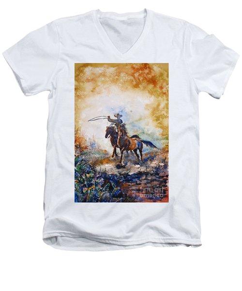 Lassoing Men's V-Neck T-Shirt by Zaira Dzhaubaeva