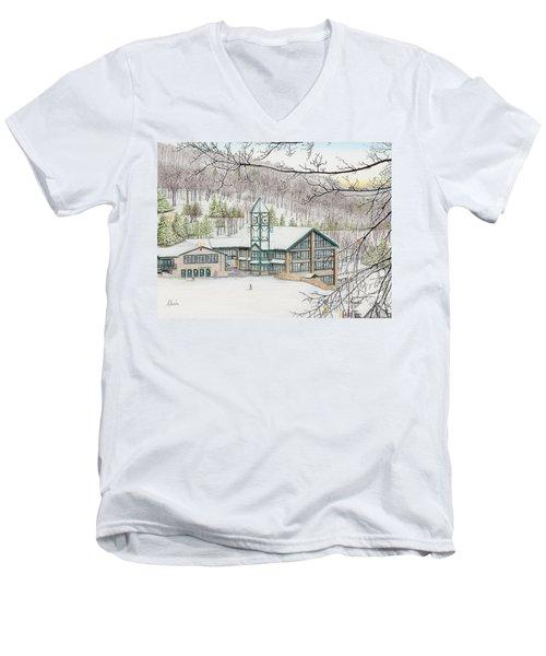Last Run Of The Day Men's V-Neck T-Shirt by Albert Puskaric