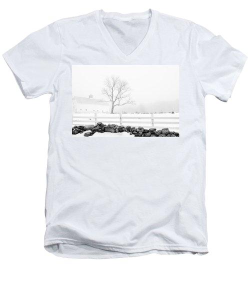 Late Winter Men's V-Neck T-Shirt by Alana Ranney