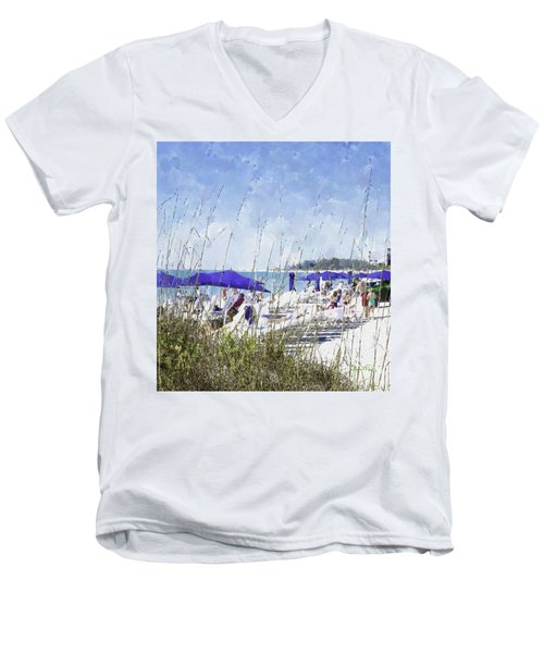 Late Winter Early Spring When Everybody Goes To Florida Men's V-Neck T-Shirt