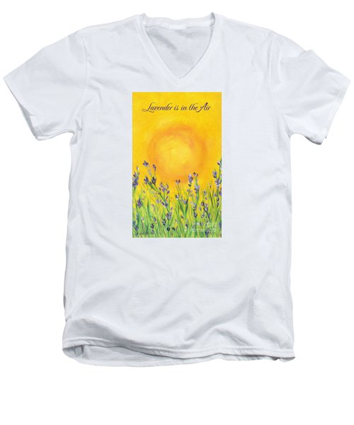 Lavender In The Air Men's V-Neck T-Shirt