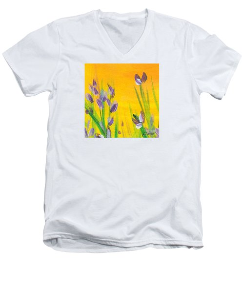 Lavender - Hanging Position 1 Men's V-Neck T-Shirt