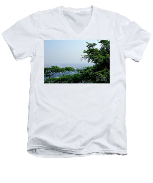 Layers Of Tree Men's V-Neck T-Shirt
