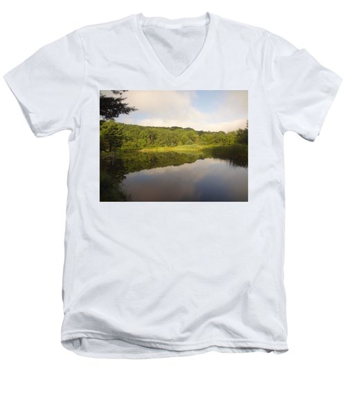 Men's V-Neck T-Shirt featuring the photograph Lazy Afternoon by Michael Porchik