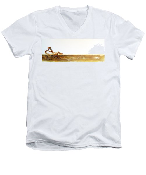 Lazy Dayz Cheetah - Original Artwork Men's V-Neck T-Shirt