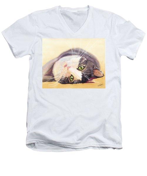 Lazy Kitty Men's V-Neck T-Shirt