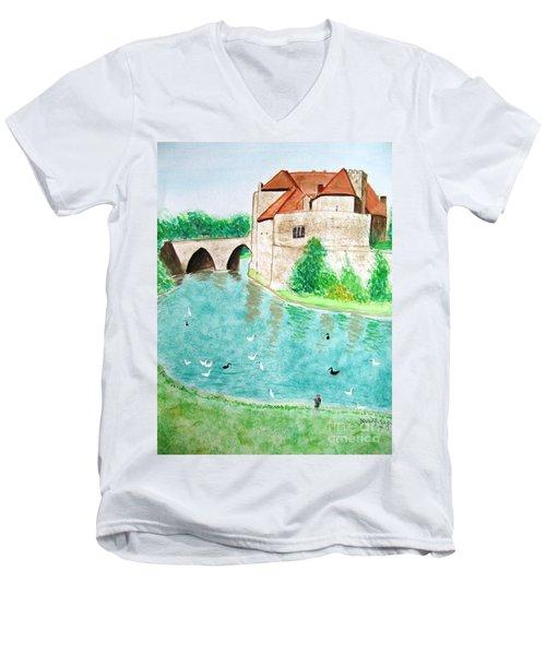 Leeds Castle  Men's V-Neck T-Shirt