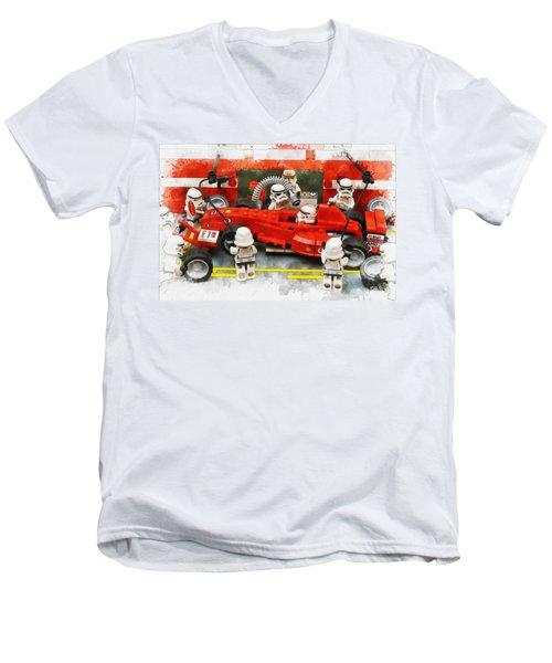 Lego Pit Stop Men's V-Neck T-Shirt