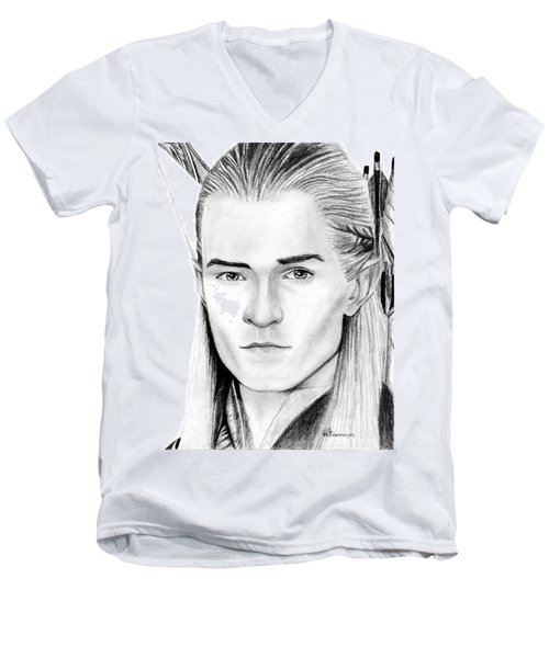 Legolas Greenleaf Men's V-Neck T-Shirt by Kayleigh Semeniuk